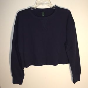 Wild Fable Navy Blue Cropped Thermal